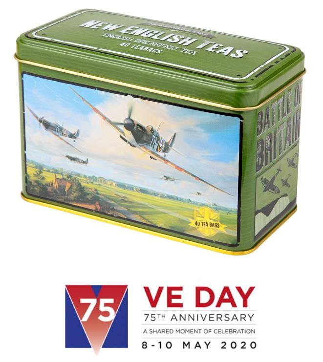 Spitfire Teabag Tin for VE day