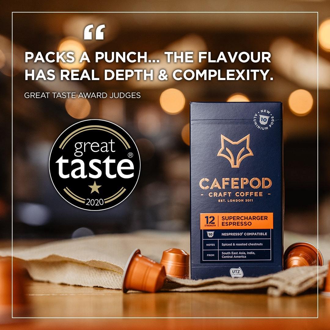 Supercharge Espresso Great Taste Award