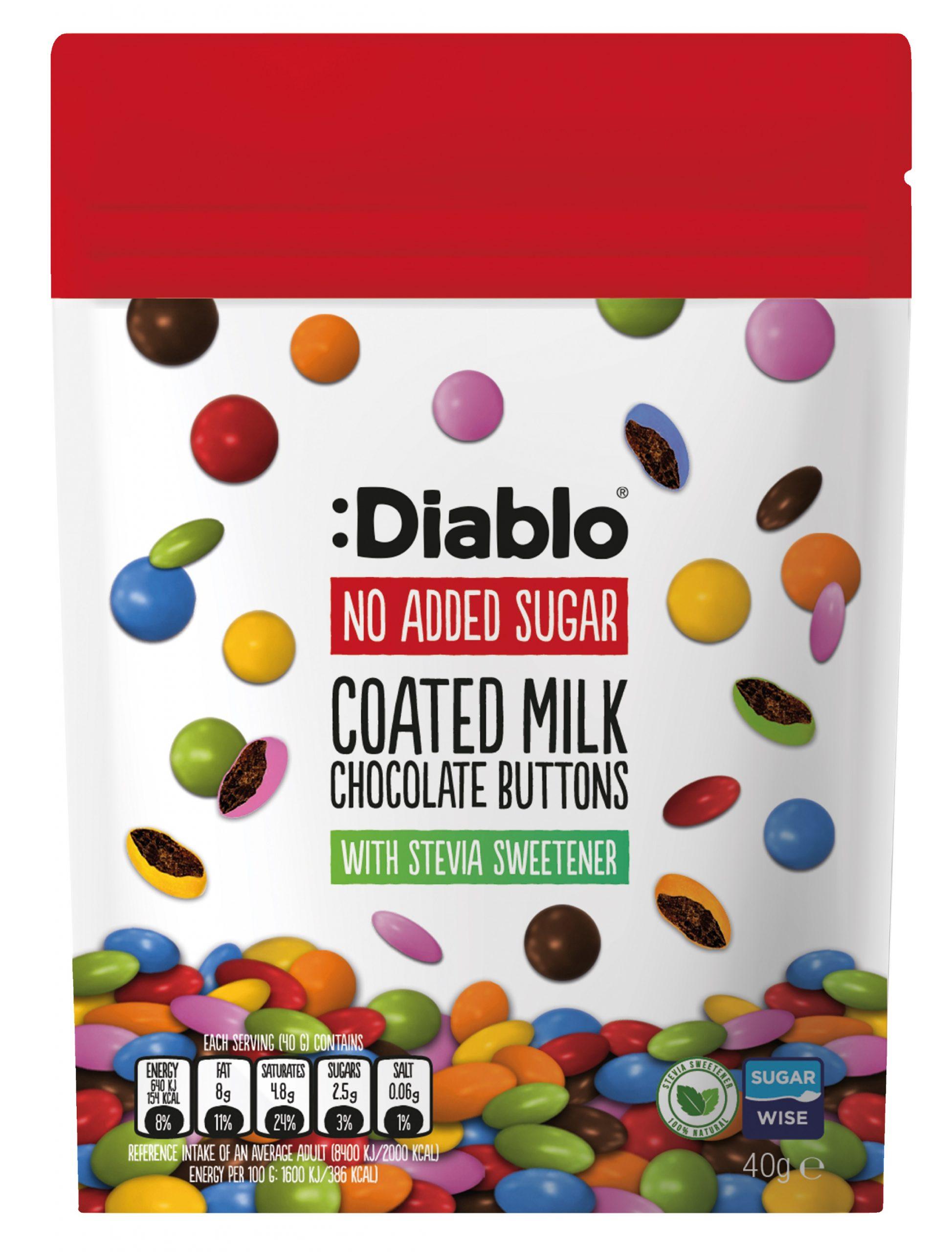 Diablo NAS Coated Milk Chocolate Buttons